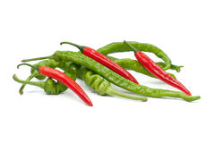 Fresh juicy peppers isolated on a white background. Fresh juicy peppers isolated on a white background Royalty Free Stock Image