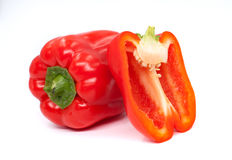 Fresh juicy peppers isolated on a white background. Fresh juicy peppers isolated on a white background Stock Photo