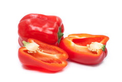 Fresh juicy peppers isolated on a white background. Fresh juicy peppers isolated on a white background Royalty Free Stock Images