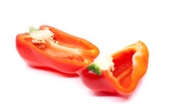 Fresh juicy peppers  on a white background. Fresh juicy peppers  on a white background Royalty Free Stock Image