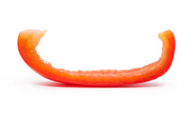 Fresh juicy peppers  on a white background. Fresh juicy peppers  on a white background Stock Image