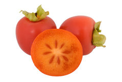 Fresh Juicy Persimmon Fruit Royalty Free Stock Photography