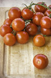 Fresh juicy red cherry tomatoes Royalty Free Stock Images