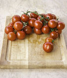Fresh juicy red cherry tomatoes Royalty Free Stock Photos