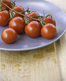 Fresh juicy red cherry tomatoes Royalty Free Stock Photography