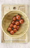 Fresh juicy red cherry tomatoes Stock Image
