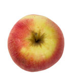 Fresh juicy red and yellow apple isolated Stock Image