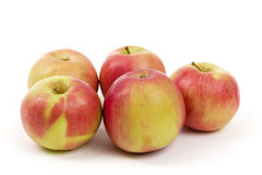 Fresh juicy red and yellow apples  Royalty Free Stock Photos