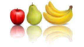 Fresh juicy ripe fruit garden stock illustration