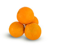 Fresh juicy ripe oranges on white background Royalty Free Stock Photography