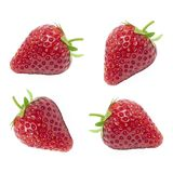 The Fresh juicy of set red strawberry isolated on white background. stock image
