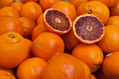 Fresh and juicy Sicilian blood oranges Stock Photography