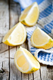 Fresh juicy sliced lemon Stock Images