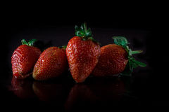 Fresh and juicy strawberries Stock Image