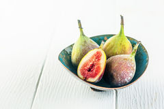 Fresh juicy succulent figs for a healthy snack Royalty Free Stock Photos