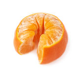 Fresh juicy tangerine fruit isolated over the Royalty Free Stock Image