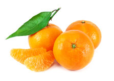 Fresh juicy tangerine Stock Photos
