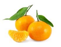 Fresh juicy tangerines Stock Photo