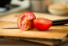 Fresh juicy tomato, selective focus Stock Photo