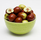 Fresh jujube fruit. In a bowl royalty free stock photography