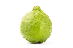 Fresh Kaffir Lime. On white background Stock Photo