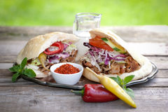 Fresh kebap. On a plate Stock Image