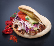 Fresh kebap. On a slate Royalty Free Stock Photography