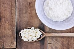 Fresh Kefir Grains and Whey Royalty Free Stock Photos