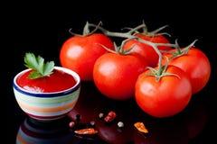 Fresh ketchup Stock Photo