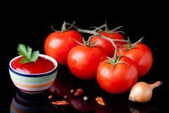 Fresh ketchup Stock Image
