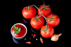 Fresh ketchup Stock Images