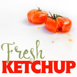 Fresh Ketchup Stock Photography