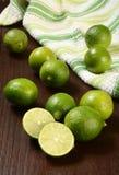 Fresh key limes Stock Photos