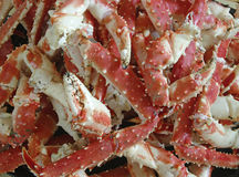 Fresh King Crab Legs on ice Stock Images