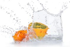 Fresh kiwano with water splashes Royalty Free Stock Photo