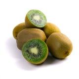 Fresh kiwi. Some fresh kiwi on white background Royalty Free Stock Photo