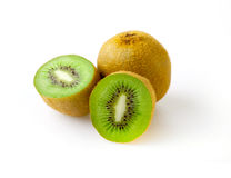 Fresh kiwi. Isolated on white Stock Images
