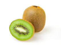 Fresh kiwi. Isolated on white Stock Photography