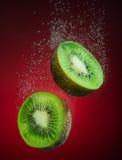Fresh kiwi with bubbles Stock Photography