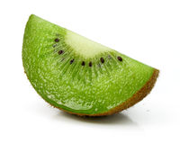 Fresh kiwi cut fruit  isolated on white Royalty Free Stock Photos