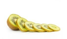 Fresh kiwi with cuts Stock Image