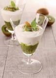 Fresh kiwi dessert Stock Photo