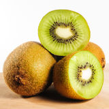 Fresh Kiwi Fruit on Chopping Board Stock Photo