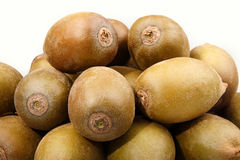Fresh kiwi fruit close-up. Close-up of some golden kiwi fruits on white background Stock Photo