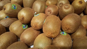 Fresh Kiwi fruit. Close up a photo of group of very fresh Kiwi fruit, Chinese gooseberry or Actinidia chinensis L. for background Royalty Free Stock Photos