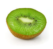 Fresh kiwi fruit cut isolated on white Royalty Free Stock Images