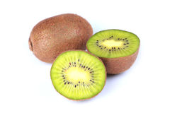 Fresh Kiwi Fruit. Isolated on white background Royalty Free Stock Image