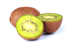 Fresh Kiwi Fruit. Isolated on white background Stock Image