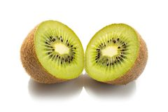 Fresh kiwi fruit isolated on white background royalty free stock image