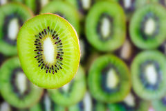 Fresh kiwi fruit slice Stock Photos